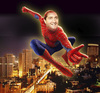 Cartoon: spider man over amman (small) by samir alramahi tagged jordan,election,spider,amman,prime,minister,samir,rifai,ramahi,cartoon,collage,arab