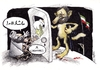 Cartoon: Ahmadinejad popularity (small) by Kianoush tagged ahmadinejad,hizbolah,iran