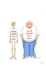 Cartoon: Hunger Shaped this Body (small) by Erwin Pischel tagged hunger,hungertote,ernaehrung,ernaehrungskrise,lebensmittel,lebensmittelversorgung,hungersnot,not,merasmus,skelett,abmagerung,shirt,bier,bierbauch,jogginghose,sneapers,verfettung,fett,körper,body,nahrungsmangel,überernährung,gewichtsabnahme,gewichtszunahme,knochen,pischel