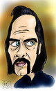 Cartoon: Nick Cave (small) by Mark Anthony Brind tagged mark,brind,nick,cave,caricature