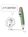 Cartoon: Stümper (small) by wista tagged stümper,amateur,nichtskönner,zeichnen,zeichner,stift,bleistift,zeichenstift,buntstift,blume,bild,looser,schlecht,mies,verunglückt,skizze,cartoon,malen