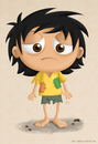 Cartoon: A poor kid (small) by kellerac tagged kid,children,poor,poverty,pobreza,pobre,maria,keller,kellerac