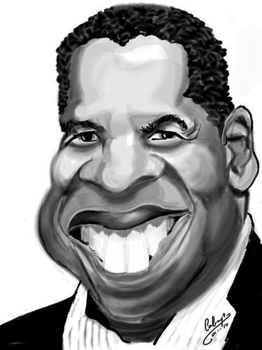 Cartoon: IPAD Denzel Washington (medium) by cabap tagged ipad,caricature