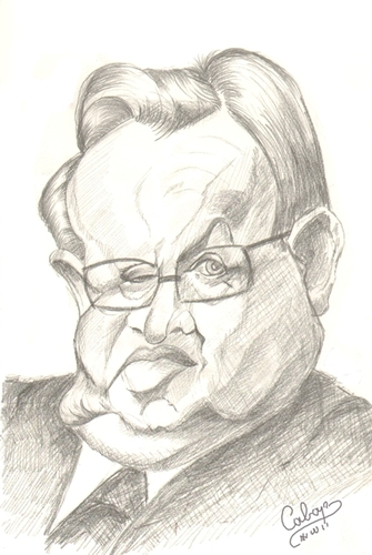 Cartoon: Martti  Ahtisaari (medium) by cabap tagged caricature