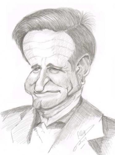 Cartoon: Robin Williams (medium) by cabap tagged caricature