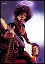 Cartoon: Jimi Hendrix (small) by szomorab tagged jimi hendrix live guitar music caricature blues rock