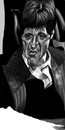 Cartoon: the world is yours (small) by szomorab tagged pacino scarface caricature