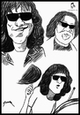 Cartoon: Tommy Ramone (small) by szomorab tagged tommy ramone ramones punk poster caricature