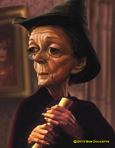 Cartoon: Maggie Smith (medium) by tobo tagged maggie,smith