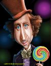 Cartoon: Gene Wilder as Wonka (small) by tobo tagged gene,wilder,as,wonka