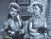 Cartoon: I Love Lucy (small) by tobo tagged tv,caricature