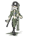 Cartoon: Soldier Cartoon (small) by Hellder Gonzales tagged digital,painting,photoshop,color,drawing,soldier