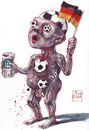Cartoon: anatomy of the Football fan (small) by Rainer Ehrt tagged football,fußball,deutschland,fan,fanatic,sports,sport