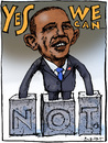 Cartoon: Obama (small) by Rainer Ehrt tagged obama voting usa demokraten republikaner wahlen wahlversprechen demokratie präsident white house