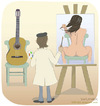 Cartoon: Body guitar (small) by Wilmarx tagged graphic painter women music