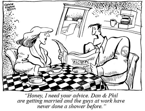 Cartoon: Modern Marriage (medium) by carol-simpson tagged gay,marriage,showers