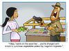 Cartoon: Salad Bar (small) by carol-simpson tagged immigration,salad,bar,usa,labor,unions