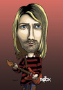 Cartoon: Kurt Cobain - Nirvana (small) by mitosdorock tagged rock,kurt,cobain,nirvana