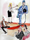 Cartoon: Model for 2010 year (small) by Miro tagged politics