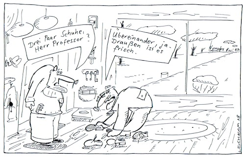 Cartoon: Professor (medium) by Leichnam tagged professor,frisch,kalt,schuhe,leichnam,leichnamcartoon