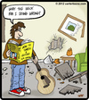 Cartoon: Guitar Smash (small) by cartertoons tagged guitar smash instructions damage