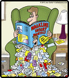 Cartoon: Magazine Insert Monthly (small) by cartertoons tagged leisure,reading,home,magazines,pop,culture,trash,messes