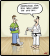 Cartoon: White Belt (small) by cartertoons tagged karate,fitness,health,self,defense,class,belt,achievements