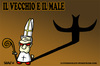 Cartoon: Il Vecchio e il Male (small) by sdrummelo tagged pope,joseph,ratzinger