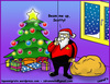Cartoon: Santa Trek (small) by sdrummelo tagged santa,clause,babbo,natale,star,trek,scotty,beam,me,up