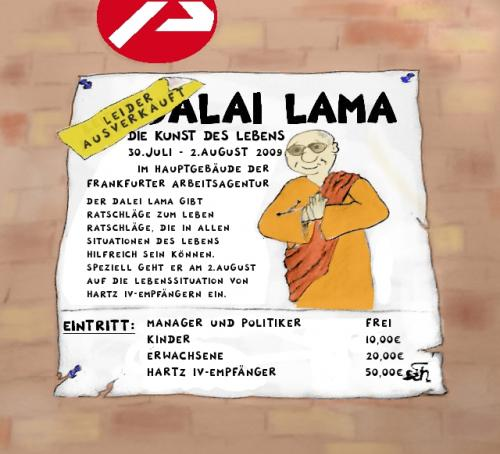 Cartoon: Dalai Lama in Frankfurt a.M. (medium) by swenson tagged dalai,lama