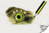Cartoon: The eye of Speedy 2 (small) by swenson tagged animal,animals,reptil,reptilien,auge,eye