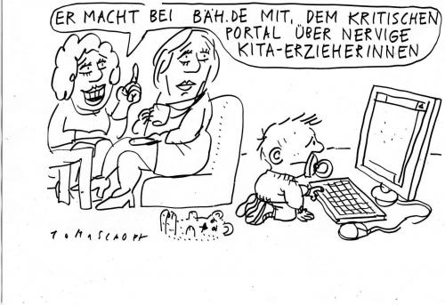Cartoon: bäh.de (medium) by Jan Tomaschoff tagged kinder,kita,edcation