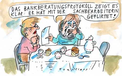 Cartoon: Beraterbank (medium) by Jan Tomaschoff tagged bank,beratung,anlageberatung