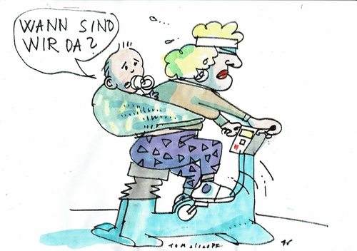 Cartoon: Fitness (medium) by Jan Tomaschoff tagged fitness,gesundheit,mutter,fitness,gesundheit,mutter