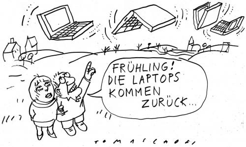 Cartoon: Frühling (medium) by Jan Tomaschoff tagged frühling