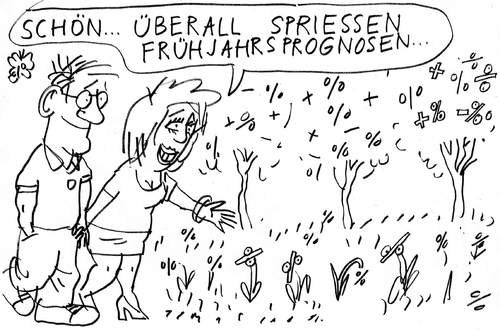 Cartoon: Frühling (medium) by Jan Tomaschoff tagged frühjahrsprognosen