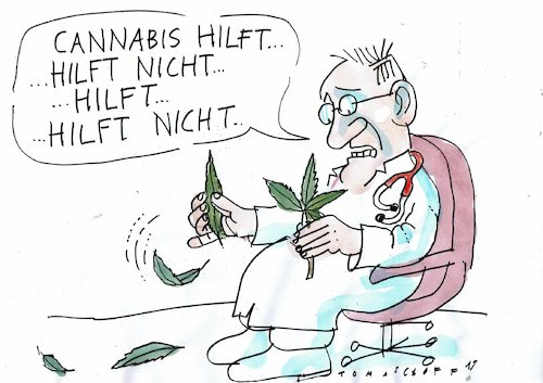 Cartoon: Heilmittel (medium) by Jan Tomaschoff tagged cannabis,medizin,cannabis,medizin