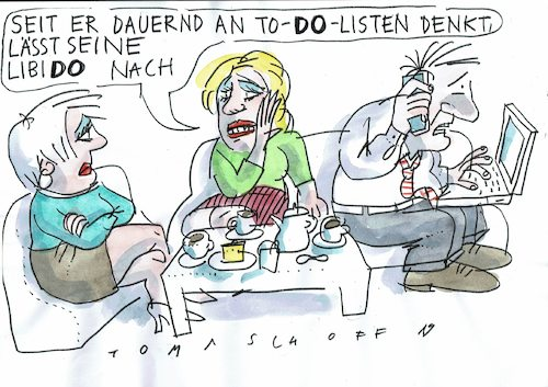 Cartoon: Libido (medium) by Jan Tomaschoff tagged eha,partnerschaft,erotik,stress,eha,partnerschaft,erotik,stress
