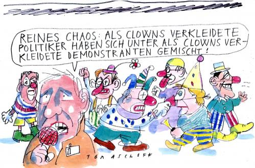 Cartoon: Politiker (medium) by Jan Tomaschoff tagged politiker,clowns