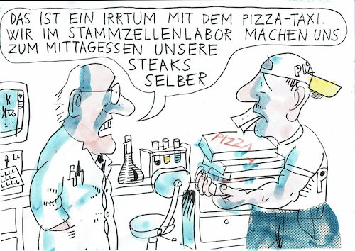 Cartoon: Stammzellen (medium) by Jan Tomaschoff tagged fleisch,stammzellen,fleisch,stammzellen