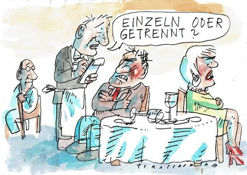 Cartoon: Trennung (medium) by Jan Tomaschoff tagged trennung,partnerschaft,trennung,partnerschaft