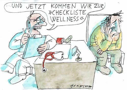 Cartoon: Wellness (medium) by Jan Tomaschoff tagged depression,empathie,depression,empathie