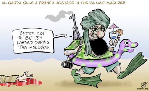 Cartoon: Al Qaeda Holidays (medium) by Damien Glez tagged al,qaeda