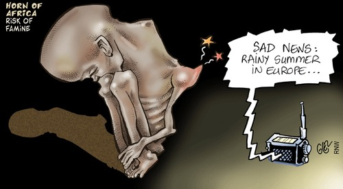Cartoon: Horn of Africa (medium) by Damien Glez tagged horn,of,africa,risk,famine