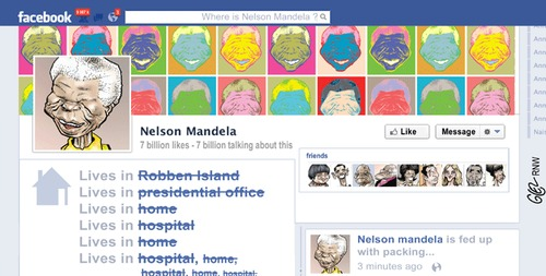 Cartoon: Mandela (medium) by Damien Glez tagged nelson,mandela,south,africa
