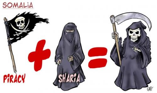 Cartoon: Somalia (medium) by Damien Glez tagged somalia,piracy,sharia
