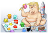 Cartoon: Baby Trump (small) by Damien Glez tagged donald,trump,united,states,america,president