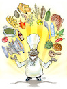 Cartoon: Cooked (small) by Damien Glez tagged cooked,kitchen,eat