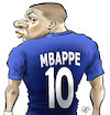 Cartoon: Kylian Mbappe (small) by Damien Glez tagged kylian,mbappe,football,france,world,champion