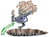 Cartoon: Money and crisis (small) by Damien Glez tagged money,currency,bank,economy,growth